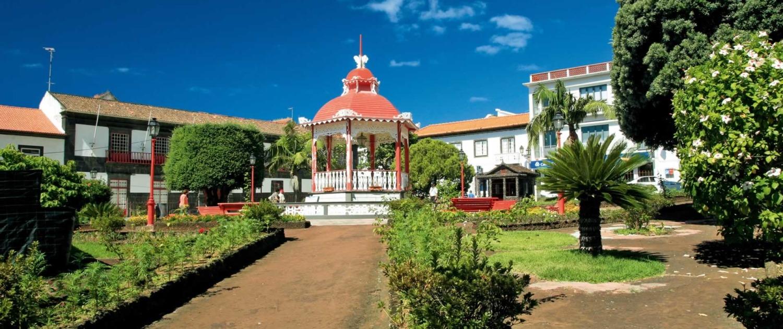 Traditionnel kiosque de musique açorienne, île de São Jorge, Açores