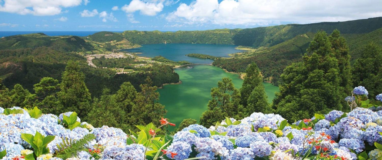 Paysage protégé du bassin de Sete Cidades et des lacs Vert et Bleu, île de São Miguel