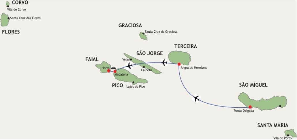 Les Açores Circuit Au-delà des Volcans Lisbonne-São Miguel-Terceira-Pico