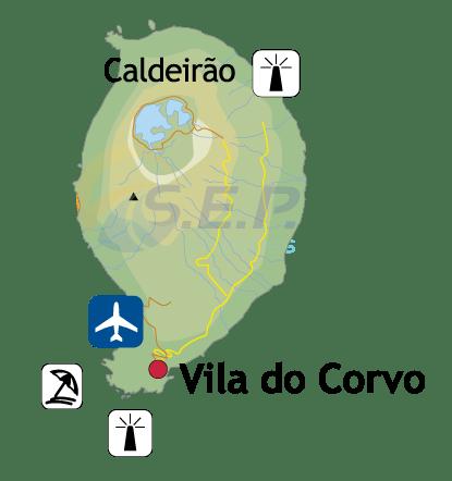 Île des Açores Corvo, l'île noire, la plus sauvage et la moins explorée de l'archipel