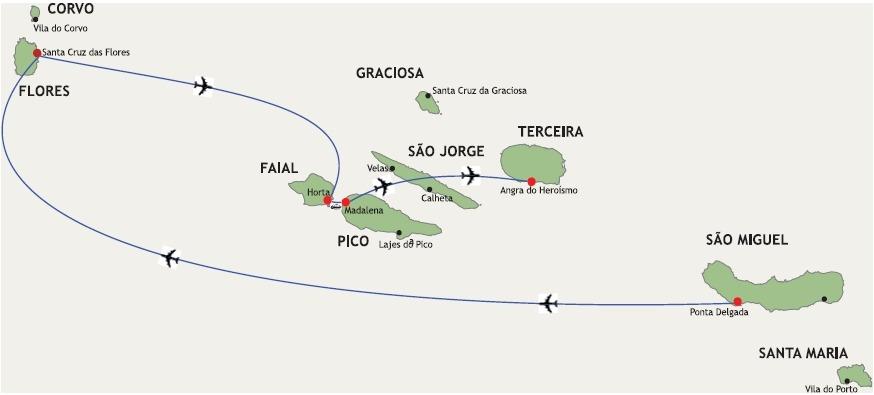 Les Açores Le grand tour des Açores - 15 jours - São Miguel, Flores, Faial, Pico, Terceira