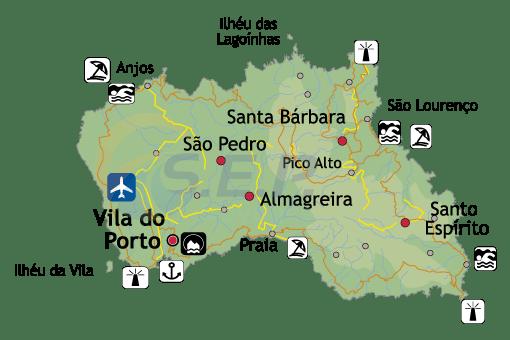 Île des Açores Santa Maria, l'île jaune, avec les plus belles plages de l'archipel