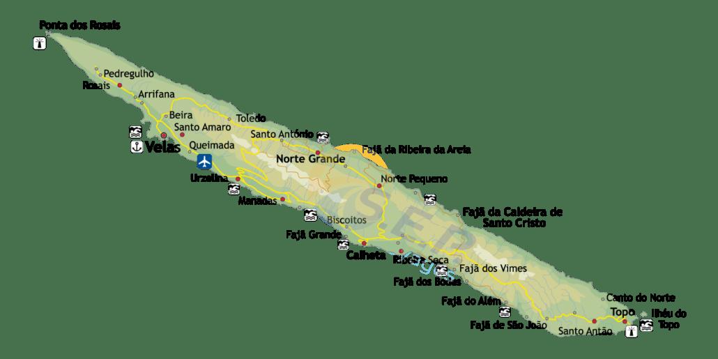 Île des Açores São Jorge, l'île marron, la plus montagneuse de l'archipel