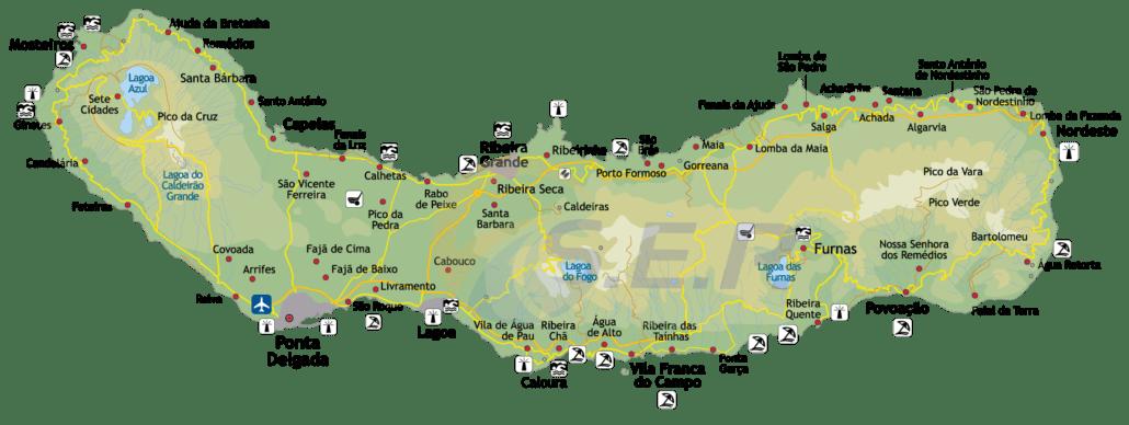 Île des Açores São Miguel, l'île verte grâce à son exubérante végétation